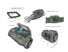Futuristic Technology, Technology Gadgets, Tech Gadgets, Fallout Props, Fallout Cosplay, Gnu Linux, Arte Sci Fi, Pip Boy, Science Fiction