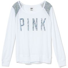 Bling Shrunken Long Sleeve Tee - PINK - Victoria's Secret on Wanelo Vs Pink Outfit, Pink Outfits, Graphic Long Sleeve Shirts, Long Sleeve Tees, Graphic Tees, Graphic Design, Aeropostale, Pink Wardrobe, Victoria Secret Outfits