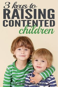 "Raising contented children when the world and media constantly barrage our kids with messages of want and greed while flashing images of the ""perfect"" body, the ""ideal"" family, and the ""magical"" vacation has made for a challenging environment to parent. As parents, we can guide our children, but we must be intentional about teaching God's word. We can learn 3 keys to raising contented children by following Paul's example."