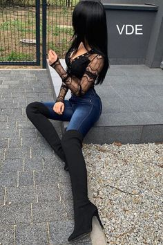 Over The Knee Boots Casual Spring Fashion Outfits For Women - Nathan Davenport Fashion Spring Fashion Casual, Spring Fashion Trends, Winter Fashion Outfits, Bar Outfits, Mode Outfits, Sexy Outfits, Sexy Boots, Casual Boots, High Boots