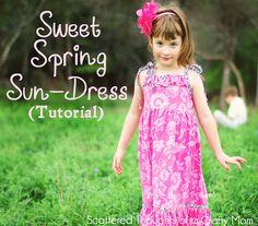 Sweet Spring Sundress Tutorial; engelse tuto