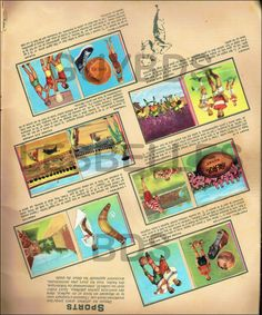 1958 : (Ref Ver) : 1 page images chocolat avec CHISTERA, CORRIDA, FOOT, RUGBY... | eBay