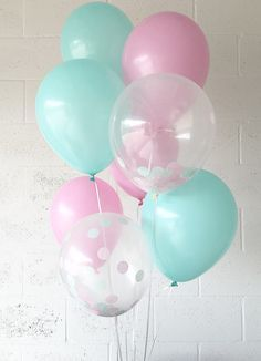Pink Mint Latex Balloons Pink Mint Party Balloons Pink Bridal Shower Pink Balloons Pink Mint Confetti Balloons Shabby Chic Party Decor #babyshowerideas4u #birthdayparty #babyshowerdecorations #bridalshower #bridalshowerideas #babyshowergames #bridalshowergame #bridalshowerfavors #bridalshowercakes #babyshowerfavors #babyshowercakes