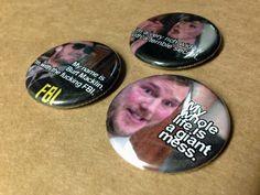 "Burt Macklin Janet Snakehole Andy Dwyer 1.25"" button or magnet choose 1 (1.50 USD) by TheShriekingShack"