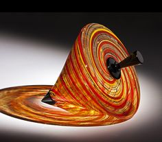 Tangier Top Blown and Assembled Glass by Nancy Callan