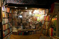 Take a visit to Shakespeare and Company bookstore in Paris to enjoy a book in this cozy space. Somerset, Cozy Reading Rooms, Converted Closet, Shakespeare And Company, Dream Mansion, Personal Library, Coffee And Books, Book Nooks, Dream Decor
