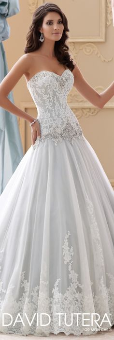 The David Tutera for Mon Cheri Spring 2015 Wedding Dress Collection - Style No. 115228 Ocean http://www.wedding-dressuk.co.uk/