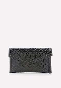 Quilted+Patent+Clutch