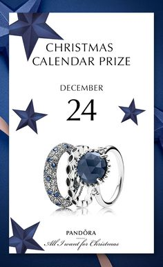 Celebrate Christmas eve with a sparkling set of rings. 24th of December prize reminds us of starry nights and looking out to the cold for Santa. Merry Christmas. #PANDORA #PANDORAchristmascontest | www.goldcasters.com