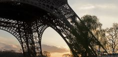 Eiffel Tower Silhouette at Sunset, Paris