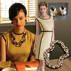 """Vintage look from Mad Men Season 3. And Honora Pearls! @Honora K. Pearls  Sterling Silver 9-10MM Multi Chocolate Ringed Freshwater Cultured Pearl 36"""" Necklace Style No: HN1162CH   A delectable blend of dark chocolates and creamy mocha colors, this collection easily transitions from the workplace, to evening wear, to high-fashion. Chocolate is perfect for the traditional Pearl Girl looking to branch out and try some color."""