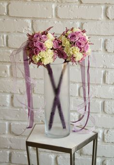 Floral wands are a truly unique approach for the modern flower girl. If your ceremony venue doesn't allow the throwing of flower petals, consider this fun alternative! Flower Girl Wand, Flower Girl Bouquet, Flower Petals, Flower Crowns, Flower Girls, Get Well Flowers, Home Flowers, Unique Flowers, Flowers Garden