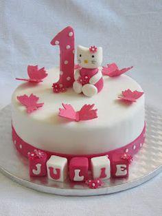 Emma's KakeDesign: Hello Kitty til 1-årsdag