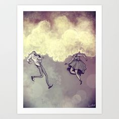 clouds heads Art Print by Karl James Mountford - $17.80