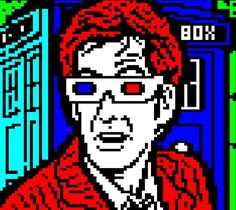 Today on Mistigram... I hear you I'm getting a little burned out on April Fool's also. So here in its place some great @horsenburger #teletext art from recent packs (MIST0217 in this case) that we never yet managed to squeeze into a Mistigram post! It's David Tennant as The Doctor from #drwho ... plus a little #tardis action off to the side!