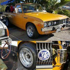 Allen's clean 1974 Datsun 620 truck #Datsun #datsun620 #datsuntruck #truck #swapmeet #carparts #classiccars #minitruck