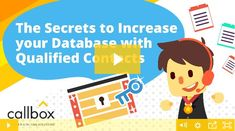 Let me share with you some secrets on how to increase your database with qualified contacts. Run a customer profiling campaign! Lead Generation, The Secret, Campaign, How To Get, Marketing