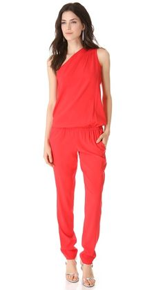 For that part of you that loves calling attention to yourself.......  Ramy Brook Lulu One Shoulder Jumpsuit