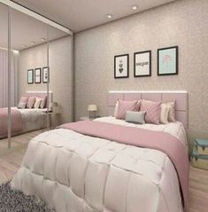 Teen Girl Bedrooms, styling ideas to get for one super brilliant bedroom decor. Kindly stop by the webpage number 8000669720 immediately for more ideas. Small Room Bedroom, Small Rooms, Modern Bedroom, Bedroom Decor, Bedroom Ideas, Small Bathrooms, Feminine Bedroom, Bedroom Design On A Budget, Girl Bedroom Designs