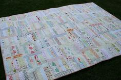crazy mom quilts: a breath of fresh air. Low volume quilt.