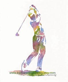 Impression de golf Sports Decor Golf cadeau par BarbaraRosenzweig