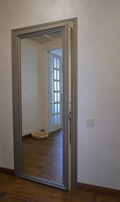 we want a hidden door frame with a mirror on the outside of it in our master hal. we want a hidden door frame with a mirror on the outside of it in our master hal. Secret Room Doors, Secret Rooms, Mirror Closet Doors, Mirror Door, Gun Safe Room, Hidden Closet, Secret Closet, Hidden Spaces, Hidden Rooms In Houses