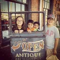 Little pickers at Antique Archaeology Nashville