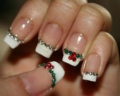 Cute Christmas nail design, but have the nails a tad shorter