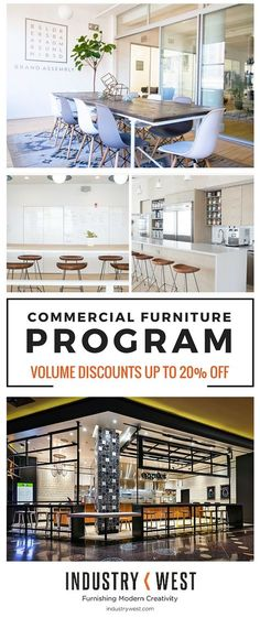 Our Commercial Furniture Orders Program is a way to connect with interior designers, architects, restauranteurs, hoteliers, and business owners to bring you exactly what you need, when you need it. We offer the chance to personally collaborate with the Industry West team, from re-imagining current designs in custom colors and finishes to creating entirely new products and designs, perfect for your clients' and business' soon-to-be favorite spaces. Learn about exclusive sales and discounts.