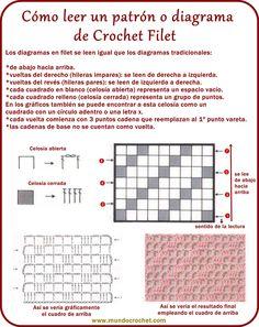 Como leer Crochet filet                                                                                                                                                                                 Más