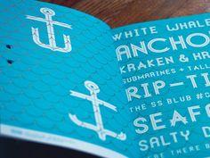 Ribbon font specimen book #typography