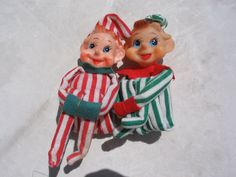 1960's Christmas Elves. I remember mom used to have both of these & put them on our Christmas tree branches :)