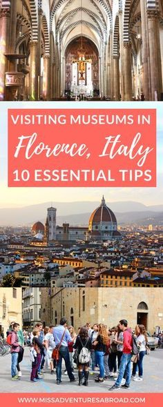 10 Essential Tips For Visiting The Museums of Florence · Florence, Italy is home to over 70 museums! From the famous museums like the Accademia and the Uffizi to the smaller museums, it can be a little overwhelming. Use these 10 tips to help you save time, money, and plan which museums you should visit on your trip to Florence! Happy itinerary planning!