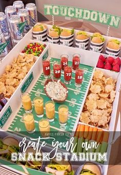 DIY Snack Stadium | Football Big Game | Build your own Snack Stadium with easy tutorial instructions and FREE football game day PRINTABLES | #GameDayGlory #ad