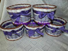 fialovo-hnedo-biele črepničky.. Laundry Basket, Wicker, Home Decor, Decoration Home, Room Decor, Home Interior Design, Laundry Hamper, Home Decoration, Loom