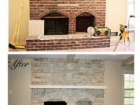 Fireplace before & after using Canyon Stone products.