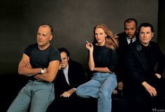 GLORY-BOUND Bruce Willis, Quentin Tarantino, Uma Thurman, Samuel L. Jackson, and John Travolta in 1994, shortly after Pulp Fiction won the Palme d'Or at the Cannes Film Festival.