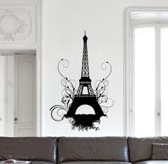Eiffel Tower Paris France Swirl Decorative Vinyl Wall Decal Decor by Park Lane Couture, http://www.amazon.com/dp/B00BVC24UK/ref=cm_sw_r_pi_dp_7ZLurb1G9FF57