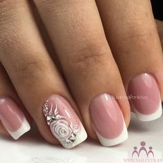 Gel Nail Designs You Should Try Out – Your Beautiful Nails Elegant Nails, Stylish Nails, Trendy Nails, Cute Nails, Hair And Nails, My Nails, Nagel Bling, Wedding Nails Design, Vintage Wedding Nails