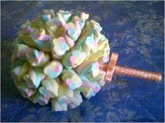 Faça você mesma - Buquê de marshmallow para daminha