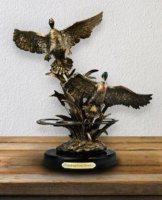 Coming Down Mallard Duck Sculpture