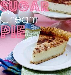 Sugar Cream Pie - Confessions of a Cookbook Queen