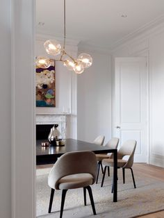 Dining room furniture ideas that are going to be one of the best dining room design sets of the year! Get inspired by these dining room lighting and furniture ideas! Side Chairs, Dining Chairs, Dining Rooms, Dining Room Modern, Room Chairs, Dining Room Inspiration, Dining Room Lighting, Home Living, Dining Room Design