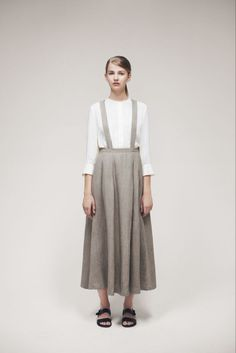 Samuji natural linen skirt