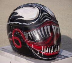 Venom Custom Airbrush Painted Motorcycle Helmet   eBay