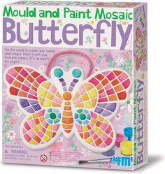 4M Crea Gips Gieten en Verven - Vlinder in Mozaïek - Hobbyset