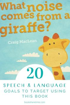 See the 20 speech and language goals you can target in your speech therapy sessions using this fantastic picture book by Craig MacLean.