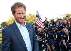 Prince Harry meets the USA Invictus Team ahead of the opening ceremony of the Invictus Games Orlando 2016 at ESPN Wide World of Sports on May 8, 2016 in Orlando, Florida. Chris Jackson/Getty Images