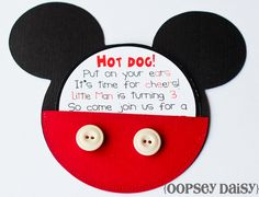 Mickey Mouse Invitation~ Love this! My little man loves Mickey! Mickey E Minnie Mouse, Theme Mickey, Mickey Mouse Clubhouse Birthday, Mickey Mouse Parties, Mickey Birthday, Mickey Party, 2nd Birthday Parties, Birthday Fun, Birthday Ideas
