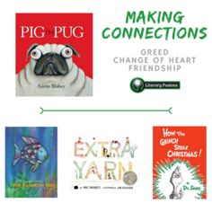 picture books for making connections (text to text), teaching theme, idioms, writing and educational technology!